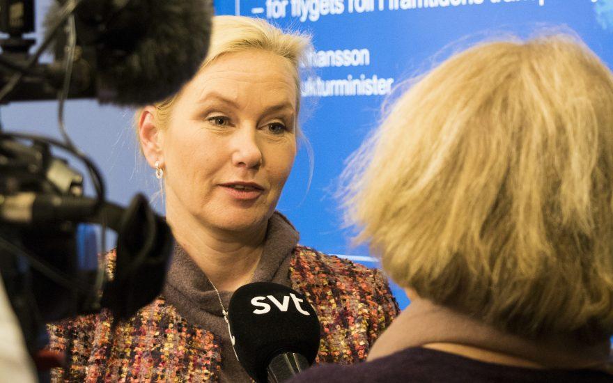 Infrastrukturminister Anna Johansson