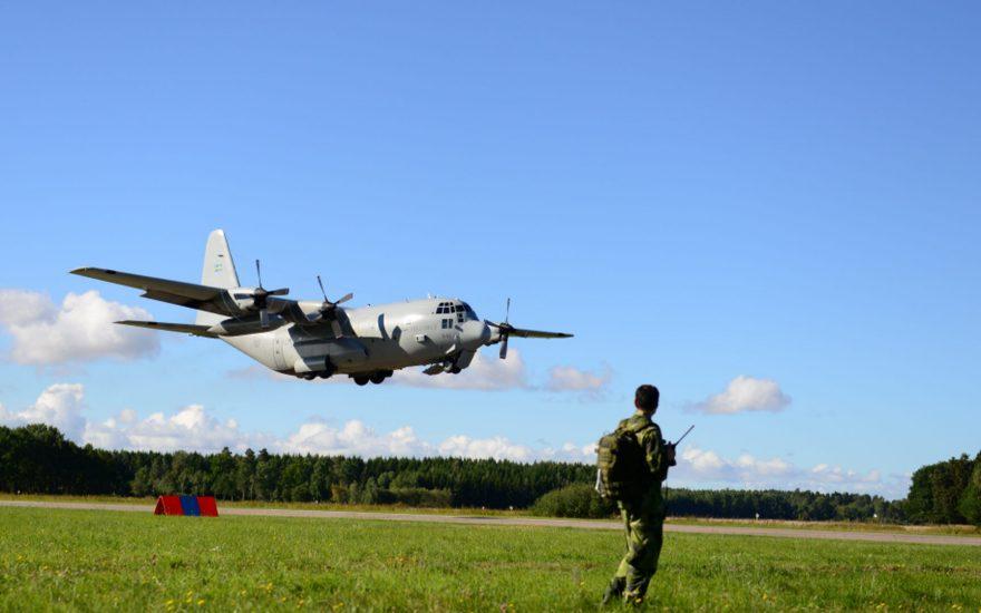 Bild från förberedelser inför Aurora 17 Foto John Lidman/Försvarsmakten